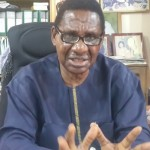 Professor Itse Sagay, SAN while granting the interviem at his office in Lagos, South West Nigeria.