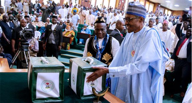 President Buhari Presents 2018 Budget