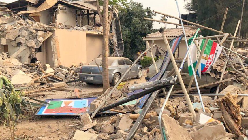 Demolished APC Secretariat