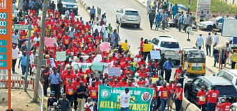 NBA, Rights Groups, Other Aggrieved Lagosians Protest Lagos Land Use Charge