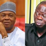 Oshiomhole Insists 'Saraki Will Be Lawfully And Democratically Impeached'