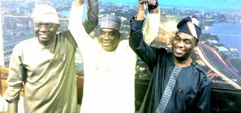 K1 Meets Lagos APC Gov. Candidate Sanwoolu, Re-affirms Loyalty To Ruling Party